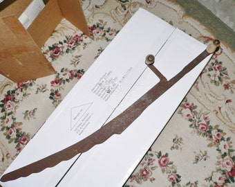 Antique Hay Knife Blade Farm Cutting Tool Rustic Western Décor Cast Iron