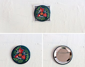 Pin Button - Blue