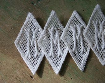 Vintage Letter M or W MONOGRAMS - 6 Pieces