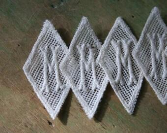 Vintage Letter M or W MONOGRAMS - 6 Pieces