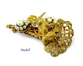 Reserved Brooch Miriam Haskell Rhinestone Pearl