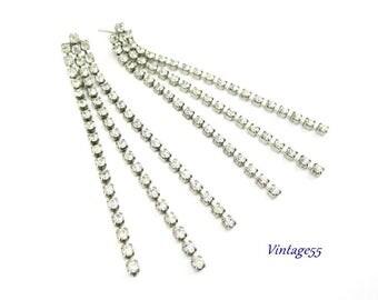 Earrings Art Deco Style Drop Swing Pierced Post