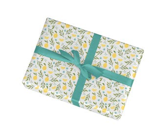 Cute Lemon Pattern Wrapping Paper - Gift Wrapping Sheets