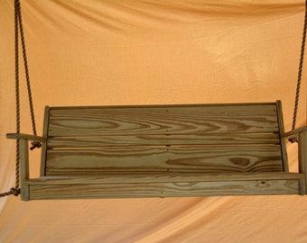 Porch Swing /Patio Swing/ Tree Swing / Out door Swing with 10 feet /5/8 Rope Per side