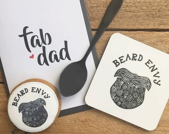 Fab Dad Gift Set - beard envy - beards - Vanilla Biscuit - Artisan Coffee - Father's Day