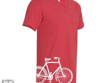 Unisex V-Neck Vintage BIKE  T Shirt xs s m l xl xxl (+ Color Options)