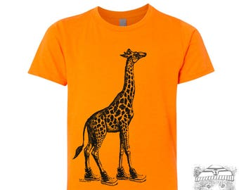 Kids Tee GIRAFFE (in High Tops) Premium vintage soft Tee T-Shirt Fine Jersey T-Shirt (+Colors) - FREE Shipping