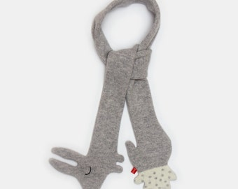 Bunny Rabbit Lambswool Scarf - Made to order