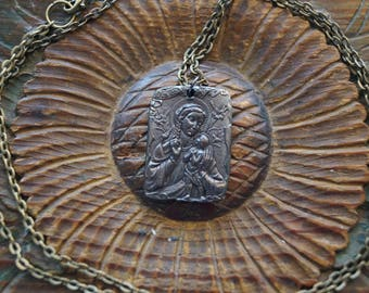 Black Madonna of Częstochowa Our Lady of Częstochowa  solid Bronze jewelry