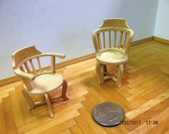 Miniature Unfinished Chair Set
