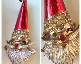 Mid-Century MYLU Winking Santa Brooch!
