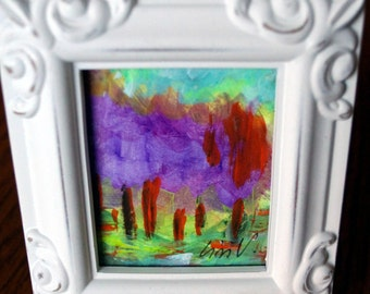 SPRING LILACS Original Painting on Paper with Frame included Spring Floral