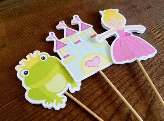 Princess Birthday Party - Set of 12 Double Sided Assorted Fairytale Cupcake Toppers by The Birthday House