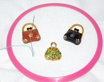 Needle minder, Needle Nanny, Cross stitch Minder, Handbag Minder, Needle Holder, Needle Magnet, Purse magnet, Pattern holder