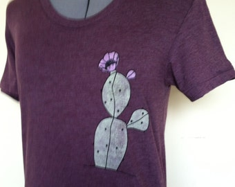 Cactus Shirt Women Slim Fit Sizes Small through X Large Plant Lady