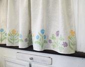 custom cottage garden linen cafe curtains