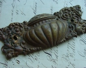 One Antique Salvaged Ornate Gothic Antique Hardware