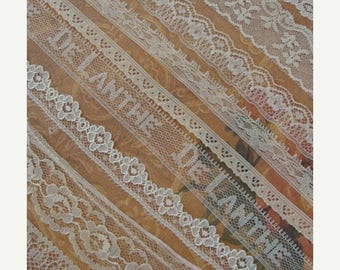 ON SALE 9 Yards Vintage and Antique Lace Lot N024 9 Yards