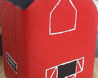 Barn, Red Barn, Barnwood, Reclaimed wood, Farmhouse, Farmer, FarmHer, Hand painted,  Farm, Customizable, Little Red Barn, Farmhouse style