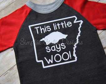 LIMITED EDITION this little piggy Razorback shirt. Hog shirt. Arkansas shirt. Toddler shirt.  2T, 4T and 5T.  Ready to Ship