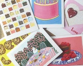 Note Card Set - Birthday, Sweets and Cake