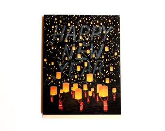 Thai Lanterns New Year Card // Set of 8