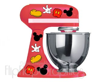 Disney Mickey Mouse Pieces for your Light/White Kitchen Mixer