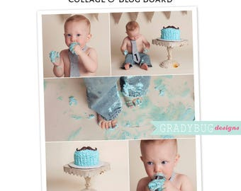 Photo Collage, Blog Board, Collage Template 16x20, Digital Storyboard, Social Media Collage, Family Photo Collage, Instant Download