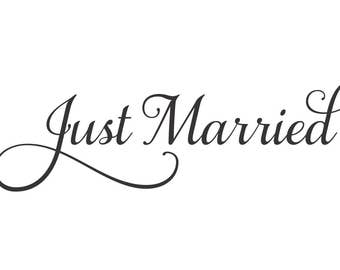 Wedding Decal - Happily Ever After - decal for wedding limo - bride and groom - vinyl letters - just married car window decal - Wedding Car