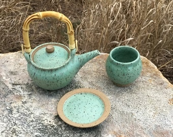 Stoneware Tea Set for 1