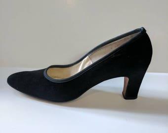 Black 50s  DeLiso Del Heels Size 5