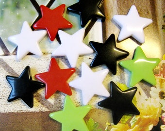 4 pcs Acrylic star chams, pendant