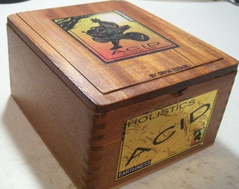 Lot 3 Wooden Cigar Box - ACID - Crafting Wood Box