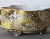 Nippon handle bowl signed gold