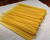 beeswax birthday candles - tall skinny- hand-dipped - pack of 20 -birthday cake topper