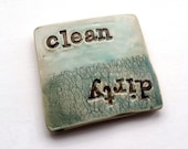 Clean Dirty dishwasher magnet – handmade ceramics – turquoise pottery – housewarming gift – home décor – kitchen tool