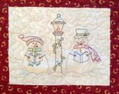 Caroling Snowmen for Seasons embroider quilt Pattern