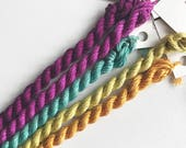 Embroidery Sampler, Fuschia Mix Sampler. Hand Dyed Silk, Silk Thread, Silk N Colors, Flash Fuschia Color Set by The ThreadGatherer