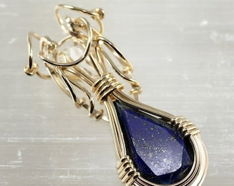 10% OFF HOLIDAY SALE Lapis Lazuli with Herkimer Diamond - Unique Designs by artist Philip Crow