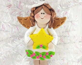 Baby Shower Gift - Baby's First Angel - Personalized Angel Christmas Ornament - Baby's First Christmas - Angel Collector Gift - 1178