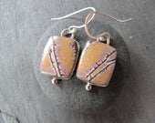 Earrings of Sonoran Dendritic Rhyolite and Sterling Silver