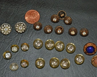 Vintage Buttons With Stones