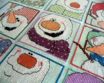 Snowy Selfies, Snowballz Snowmen Cross Stitch PDF Download, Carolyn Manning Designs
