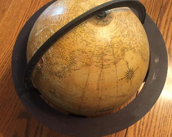 1940s-1950s Rand McNally of Chicago Indexed Terrestrial Globe