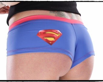 Superman Inspired Booty Shorts by BKCC