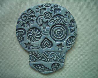 SEA - Intricate SUGAR SKULL - Ceramic Mosaic Tiles