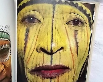 1981 Man As Art New Guinea Photographs by Malcolm Kirk Tribal Art Native Face Painting Masks