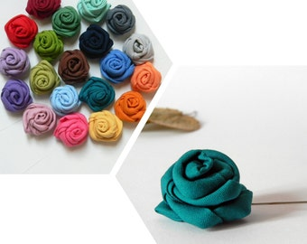 Lapel stick pin. Flower lapel pin. Wedding boutonniere, choose your own color. Men's lapel flower. Solid color.