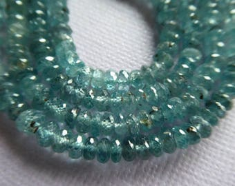 Shop Sale... 10 20 50 pcs, ZIRCON Rondelles Beads, Luxe AAA, 4-4.5 mm, Faceted, December birthstone, something blue diamond look 45