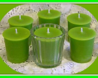 PINECONE & LiME Votive Candles - YC Type* Scent * Citrus * Woodsy * Cedar * Unisex * Gift Boxed Set Of 6 - Maximum Scented - Handmade USA